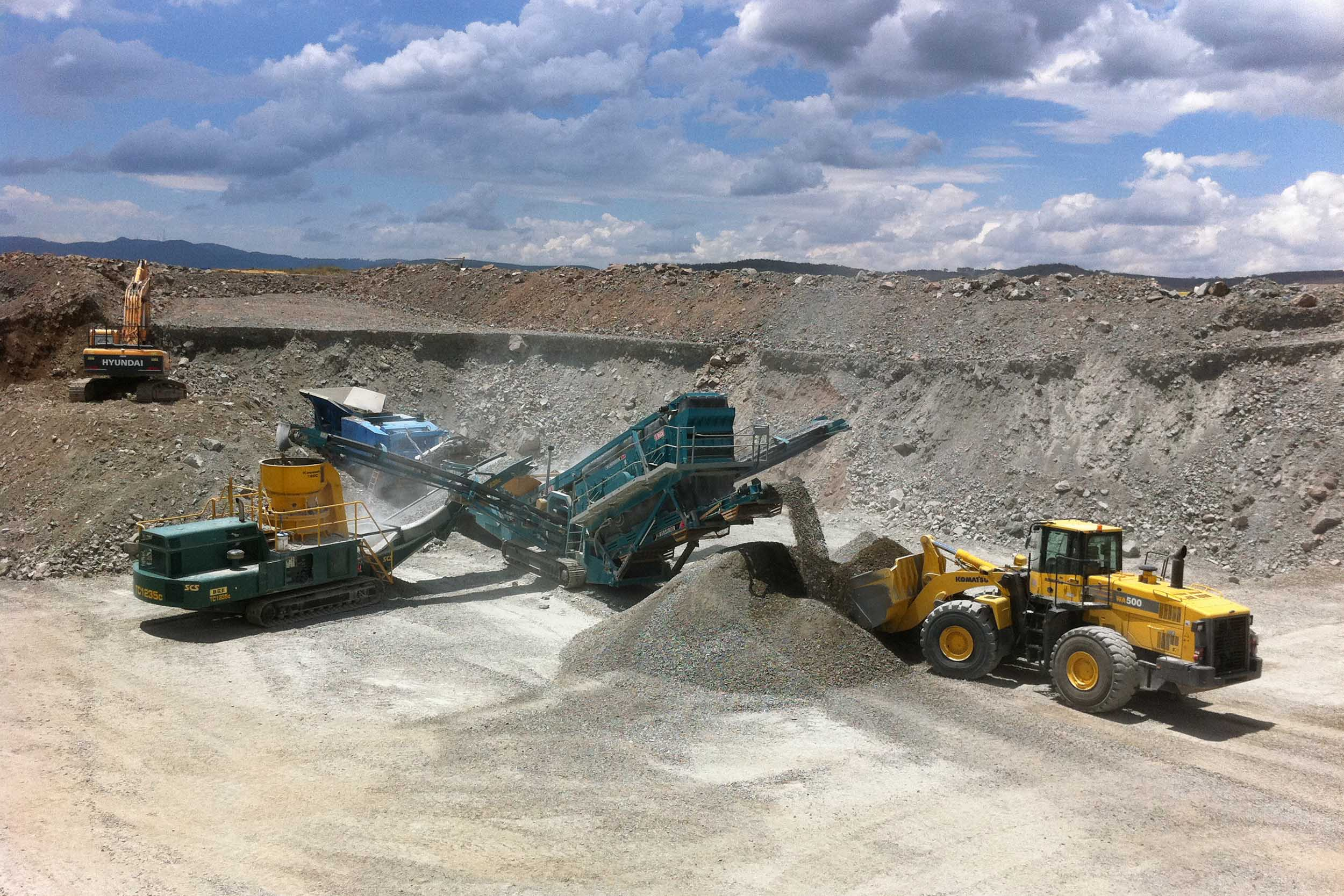 crushing screening quarrying